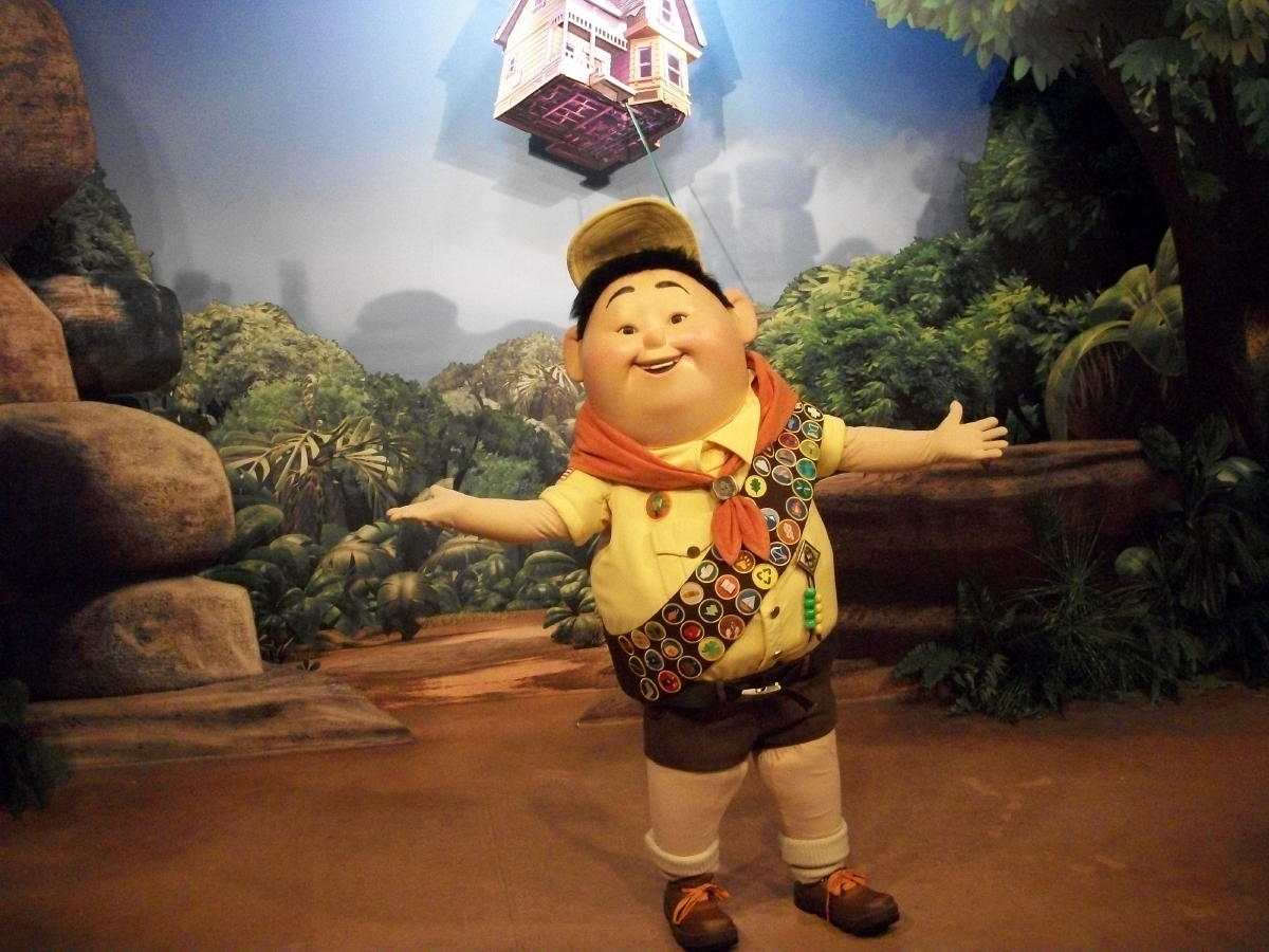 Up movie characters russell russell lorraine and friends from the